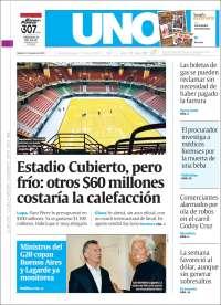 Portada de Diario Uno (Argentina)