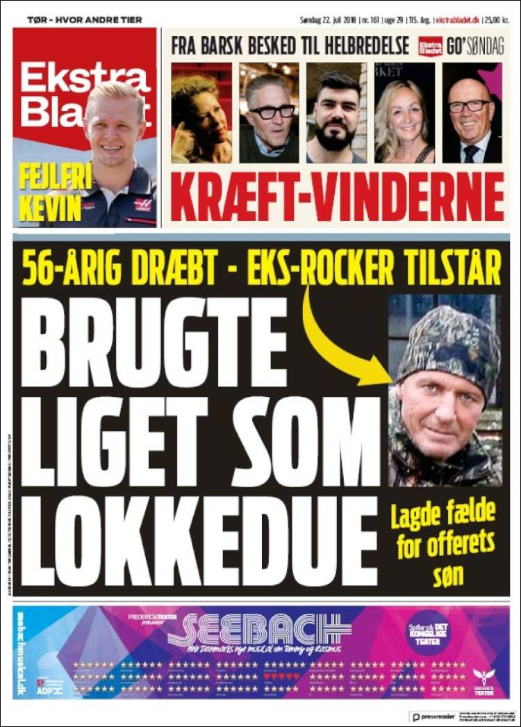 Newspaper Ekstra Bladet Denmark Newspapers In Denmark Sundays