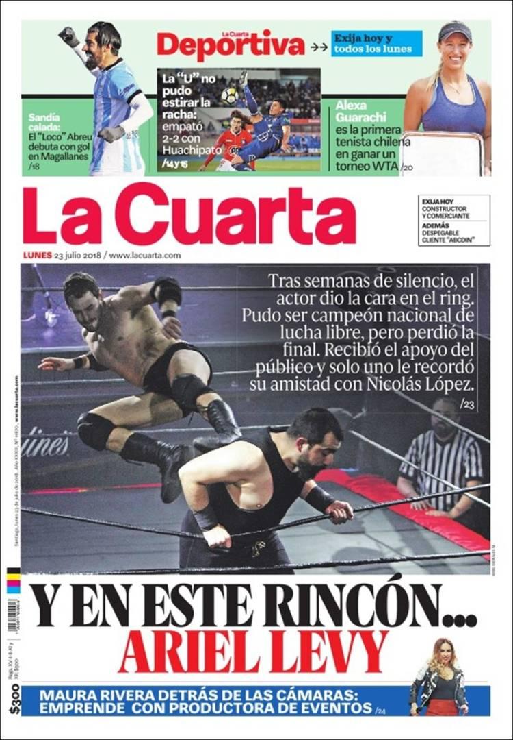 Periódico La Cuarta (Chile). Periódicos de Chile. Edición de martes ...
