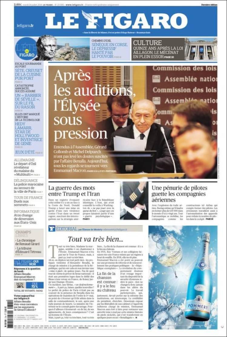 Portada de Le Figaro (France)