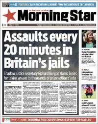 Portada de Morning Star (Reino Unido)