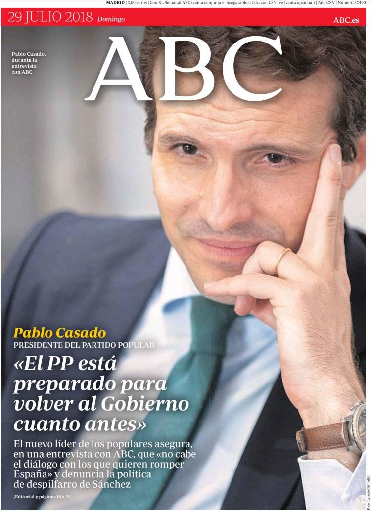Peridico ABC Espaa Peridicos De Espaa Edicin De Domingo 29
