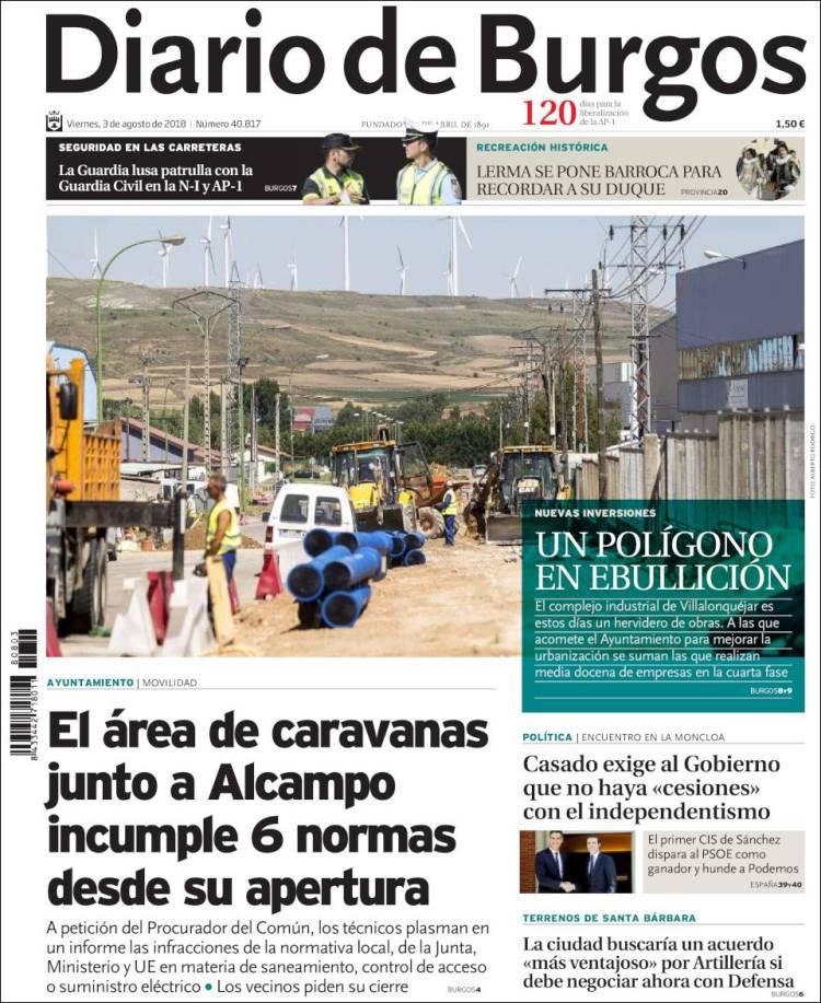 Periódico Diario de Burgos (España). Periódicos de España. Edición ...