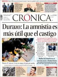 Portada de La Crónica de Hoy (México)
