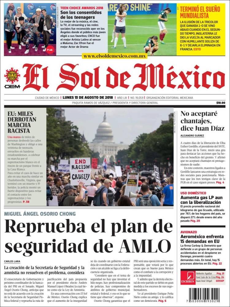 ddf59eda8b Periódico El Sol de México (México). Periódicos de México. Edición ...