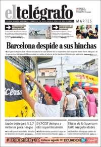 Portada de El Telégrafo (Équateur)