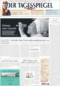 Portada de Der Tagesspiegel (Allemagne)
