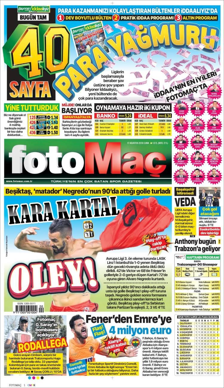 Portada de Fotomaç (Turquía)