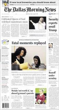 Portada de Dallas Morning News (États-Unis)