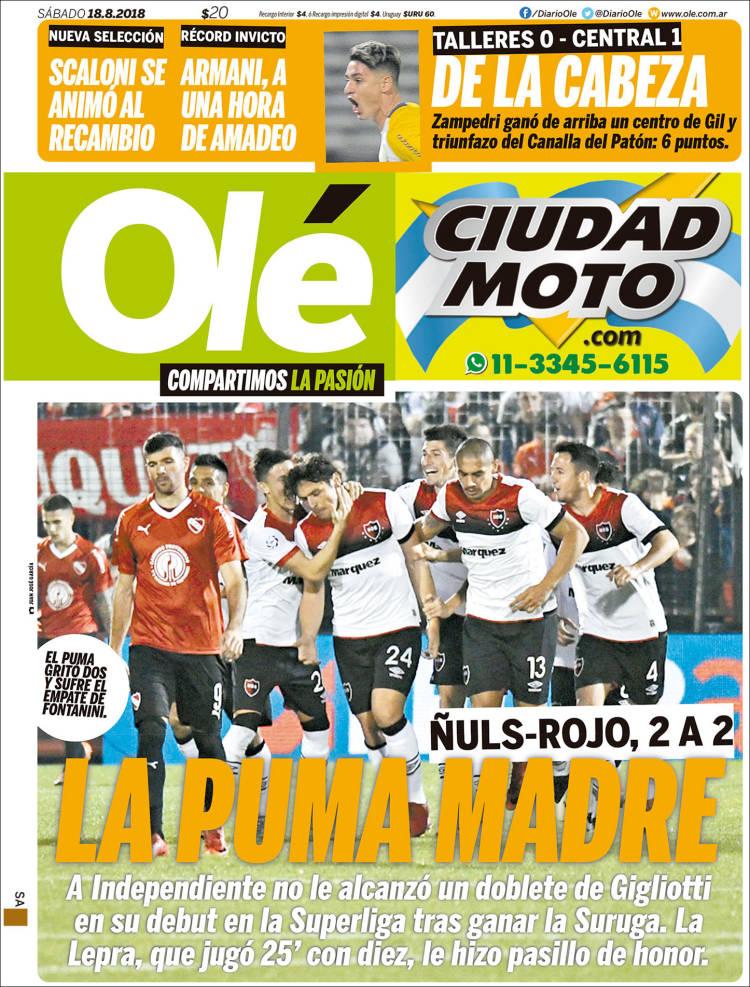 Portada de Olé (Argentine)