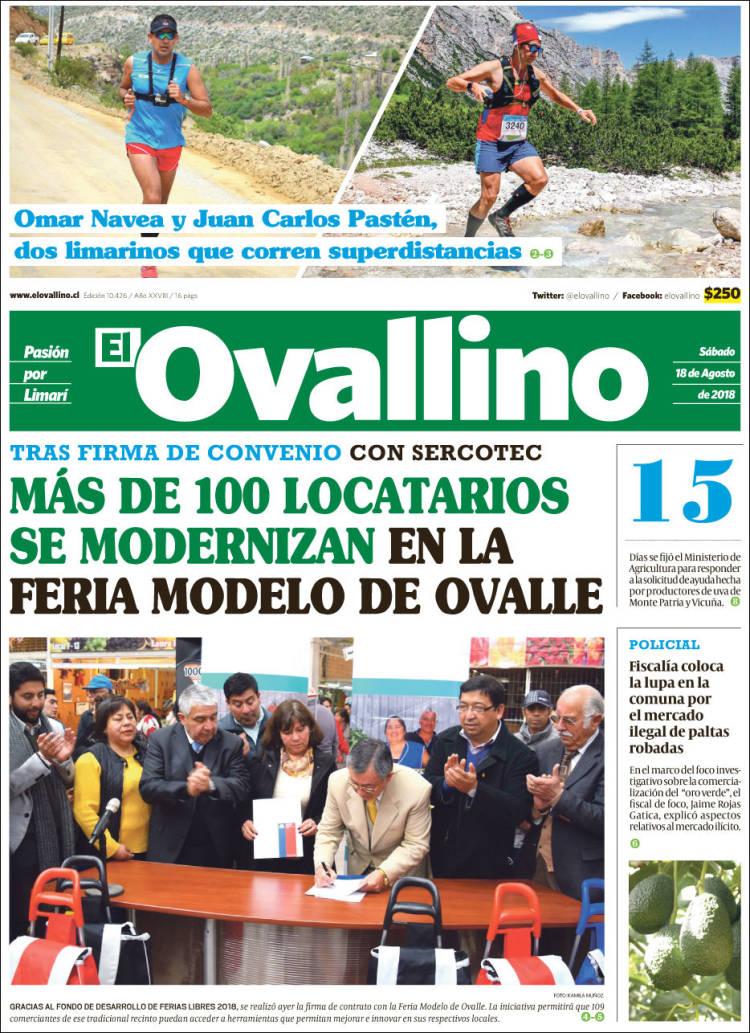 Portada de El Ovallino (Chili)