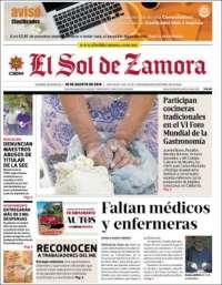 Portada de El Sol de Zamora (Mexique)