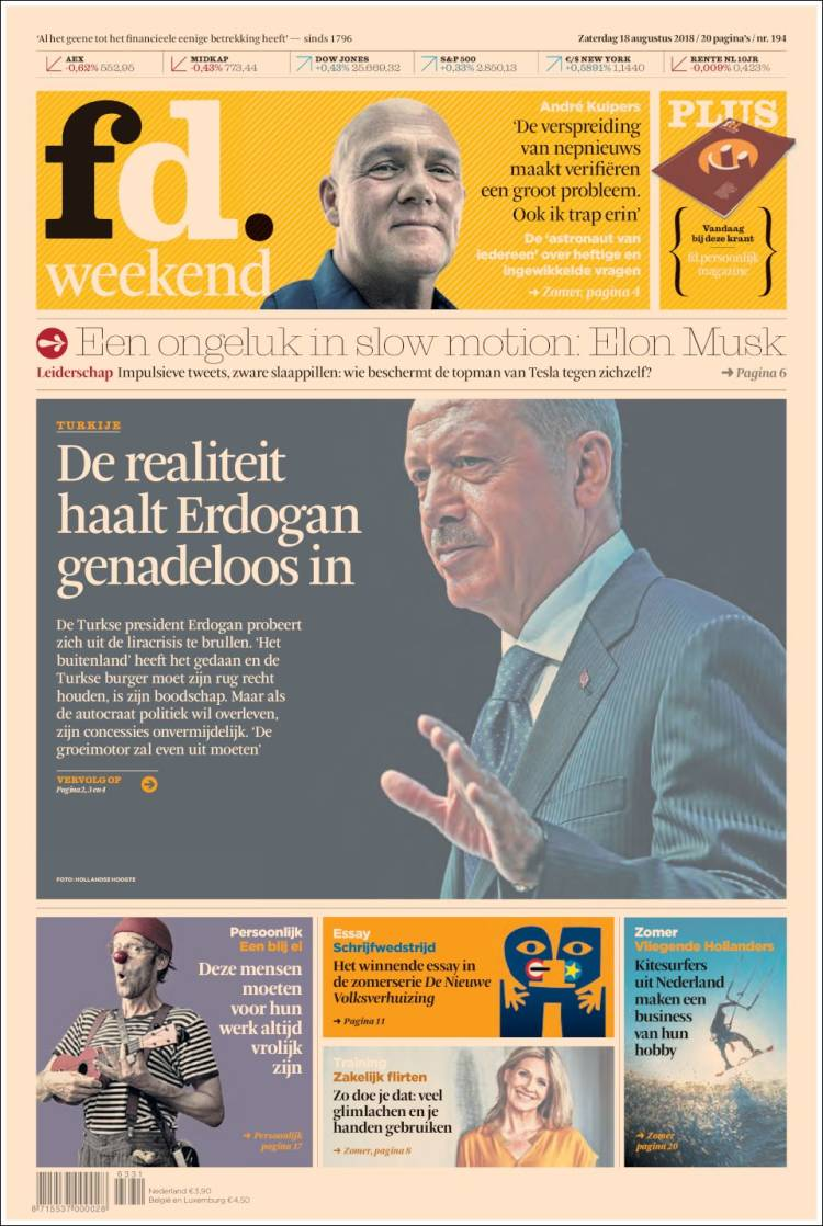 Portada de Het Financieele Dagblad (Netherlands)