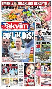 Portada de Takvim (Turquie)