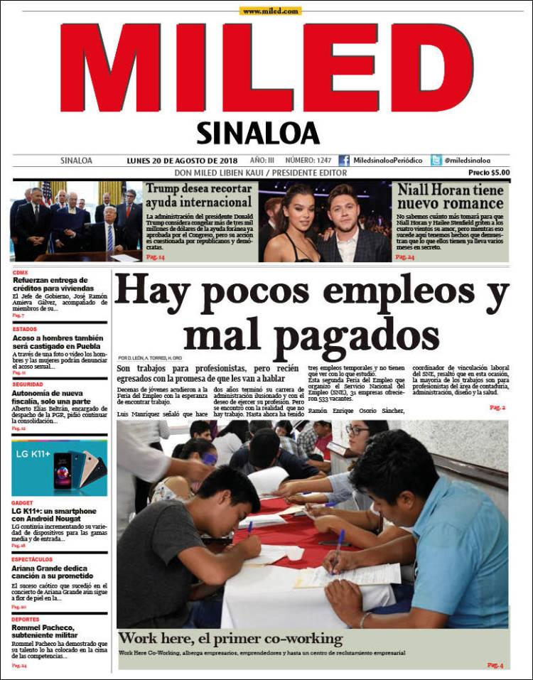 Portada de Miled - Sinaloa (México)