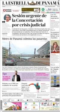 Portada de La Estrella de Panamá (Panamá)
