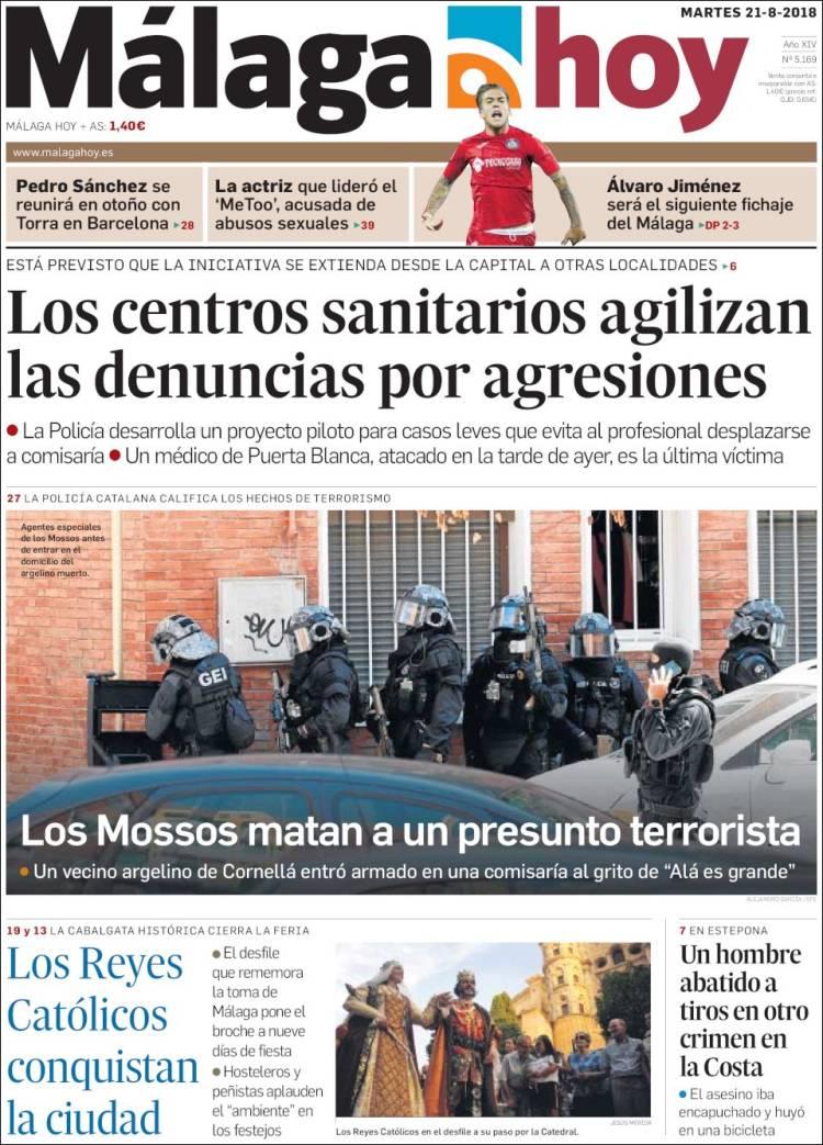 Portada de Málaga Hoy (España)