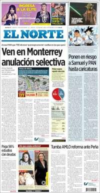 Portada de El Norte (México)