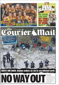 Portada de The Courier-Mail (Australia)