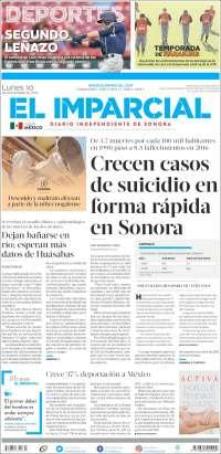 Portada de El Imparcial (Mexico)