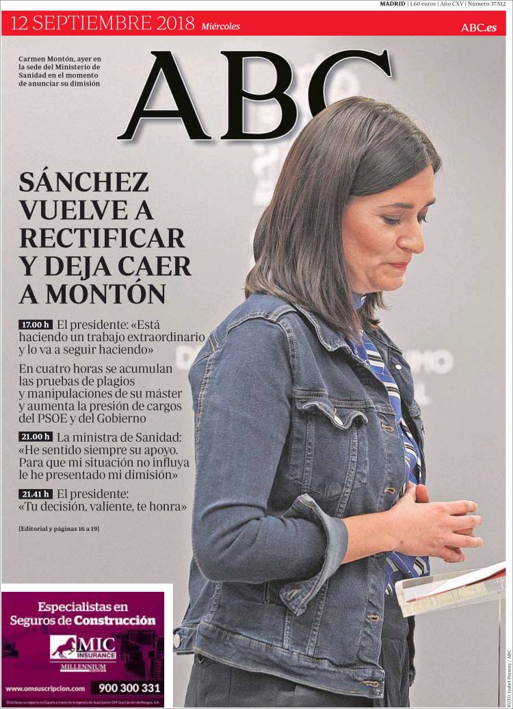Portada De ABC Spain