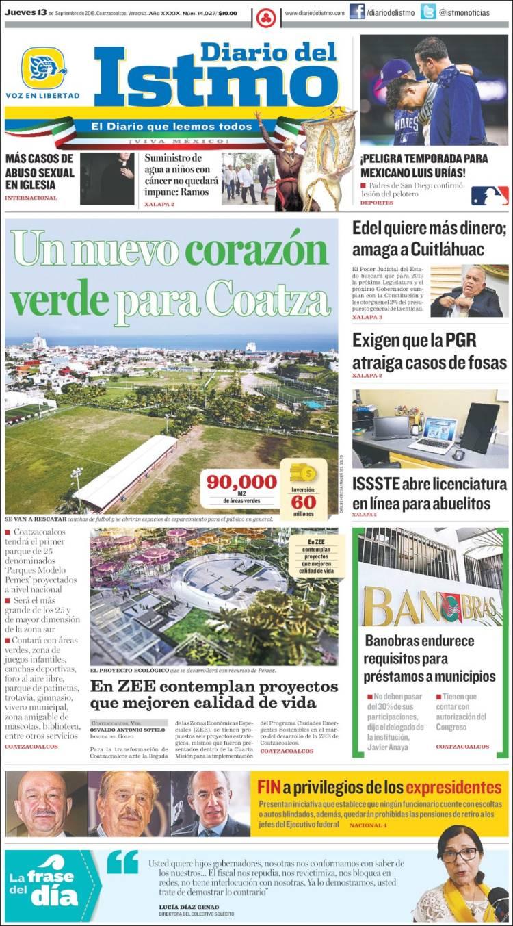 Periódico Diario del Istmo - Voz en Libertad (México). Periódicos de ...
