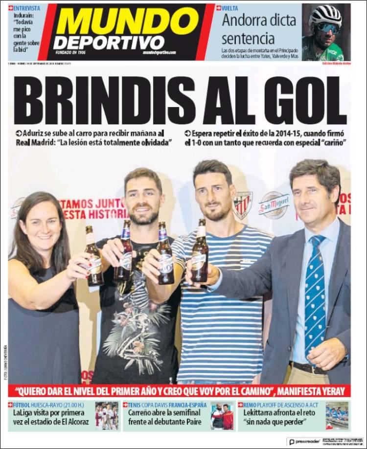 Portada de Mundo Deportivo Bizkaia (España)