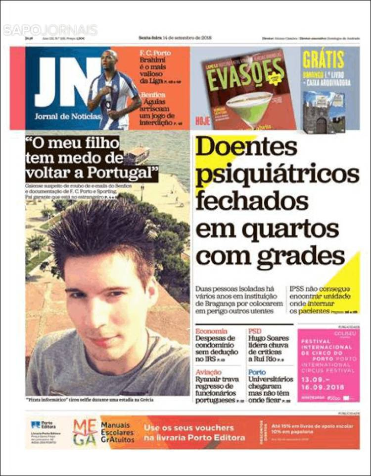 Portada de Jornal de Notícias (Portugal)