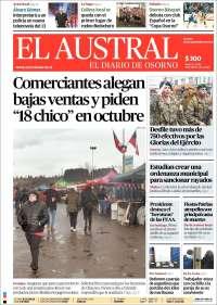 Portada de El Austral de Osorno (Chile)