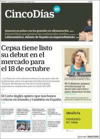 Portada de Cinco Días (Spain)