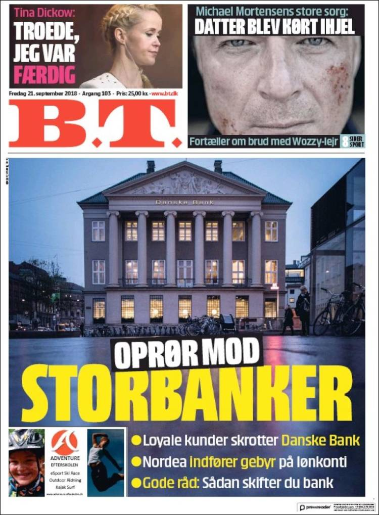Portada de B.T. (Denmark)