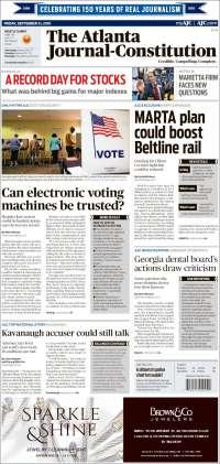 Portada de The Atlanta Journal-Constitution (USA)