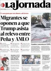 Portada de La Jornada (Mexique)