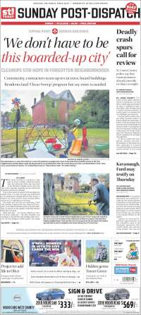Portada de St. Louis Post-Dispatch (États-Unis)