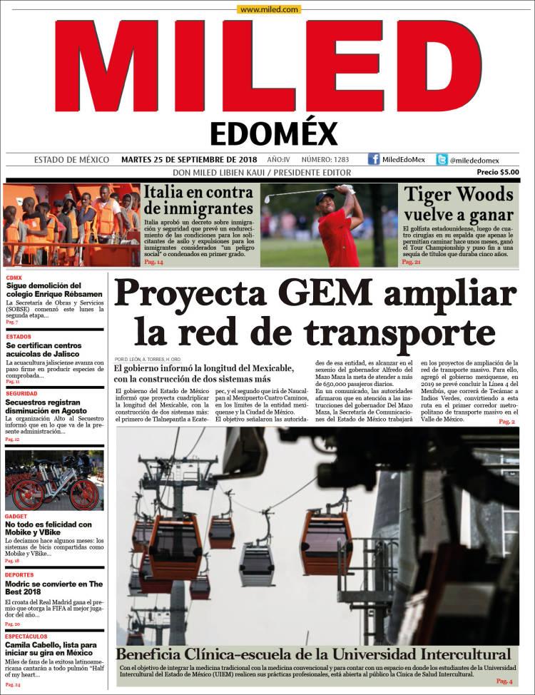 Portada de Miled - Estado de México (México)
