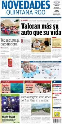 Portada de Novedades de Quintana Roo (Mexique)