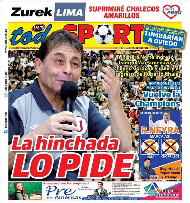Portada de TodoSport (Perú)