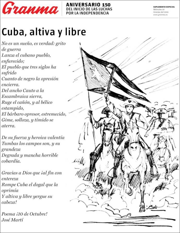 Portada de Granma (Cuba)