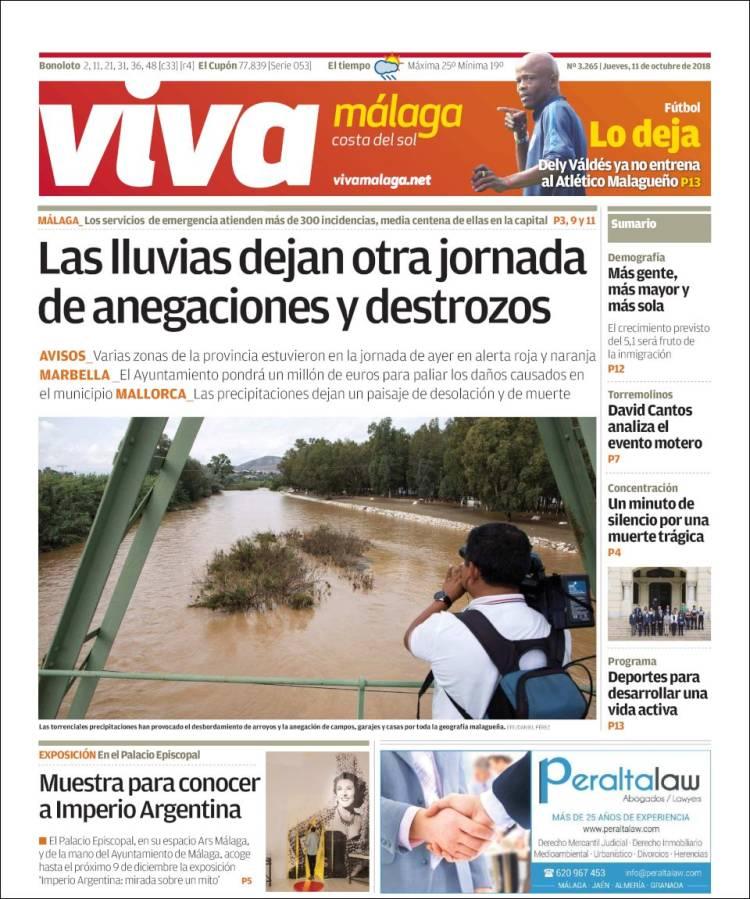 Portada de Viva Málaga (España)