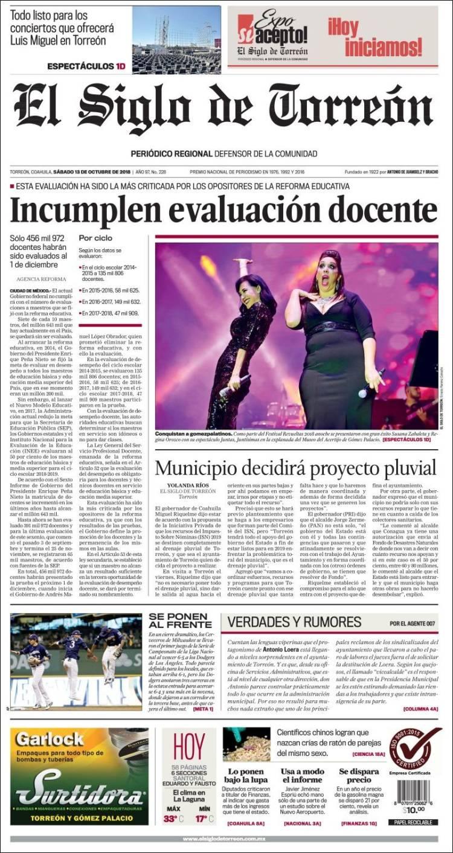 e6690fc29 Periódico El Siglo de Torreon (México). Periódicos de México ...