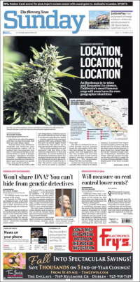 Portada de San Jose Mercury News (USA)