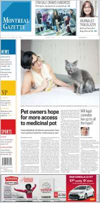 Portada de The Gazette (Canada)