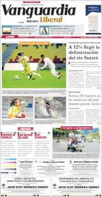 Portada de Vanguardia Liberal (Colombie)