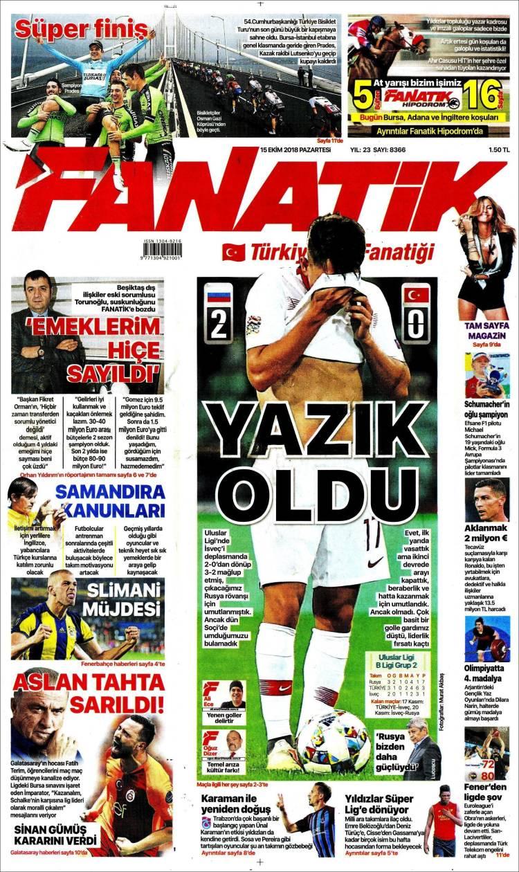 Portada de Fanatik (Turquie)