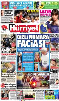 Portada de Hürriyet (Turquie)