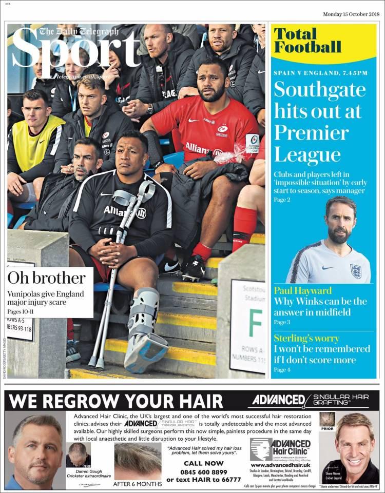 Portada de Telegraph Sport (United Kingdom)