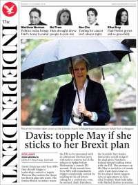 Portada de The Independent (United Kingdom)