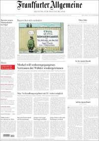 Portada de Frankfurter Allgemeine (Germany)