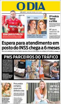 Portada de O Dia (Brésil)