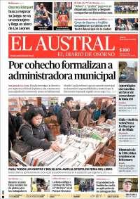 Portada de El Austral de Osorno (Chili)